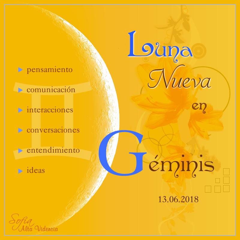 Luna Nueva en Géminis ♊ (13 de junio 2018)